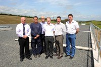 NI Water staff Albert Surgeon, Joe McCombe, Martin Terrins David Clydesdale, Ian Glass and Gary McFadden on-site at Ballylone Service Reservoir