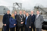 The NI Water team pictured on site with the Mayor of Dungannon and South Tyrone