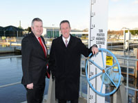 Laurence MacKenzie, CEO of NI Water (pictured left) with Regional Development Minister Conor Murphy.
