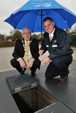 NI Water's new £1.25m wastewater treatment works in Lower Ballinderry is welcomed by Mayor of Lisburn, Councillor Allan Ewart and Project Manager, David Knight
