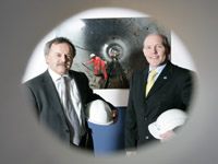 Pictured at the launch are NI Water's Bill Gowdy (right), Head of Waste Water Procurement and Trevor Haslet, Director of Engineering Procurement.