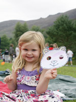 Laura McCrystal from Lisburn shows us her artwork from the teddy bear's picnic at NI Water's Family Fun Event in Silent Valley on Sunday 1st August.