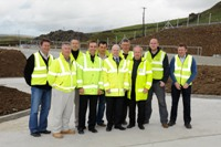 NI Water staff celebrate the completion of the Mid Antrim reservoir project