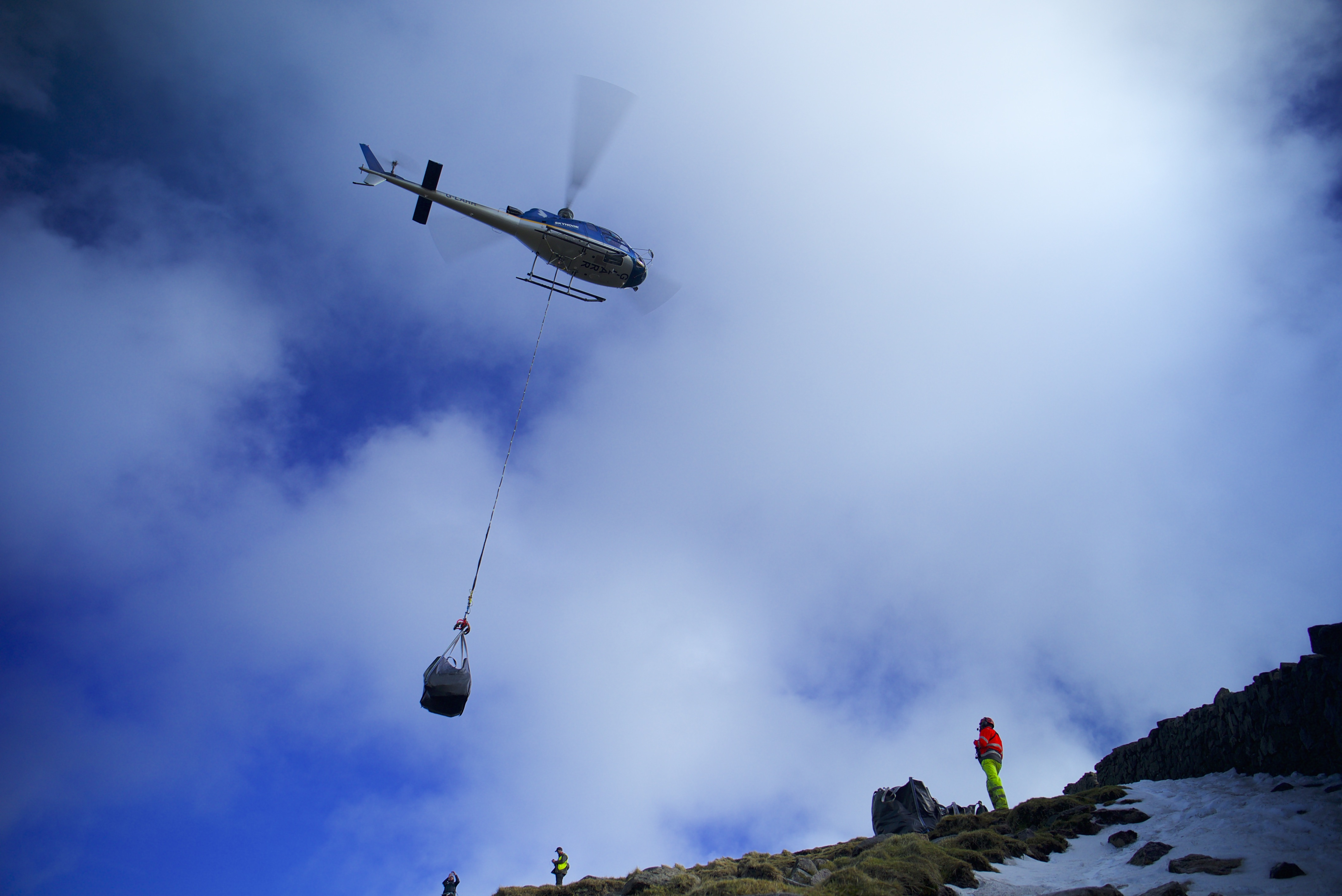 First phase of Mourne Wall Helicopter Drops Complete