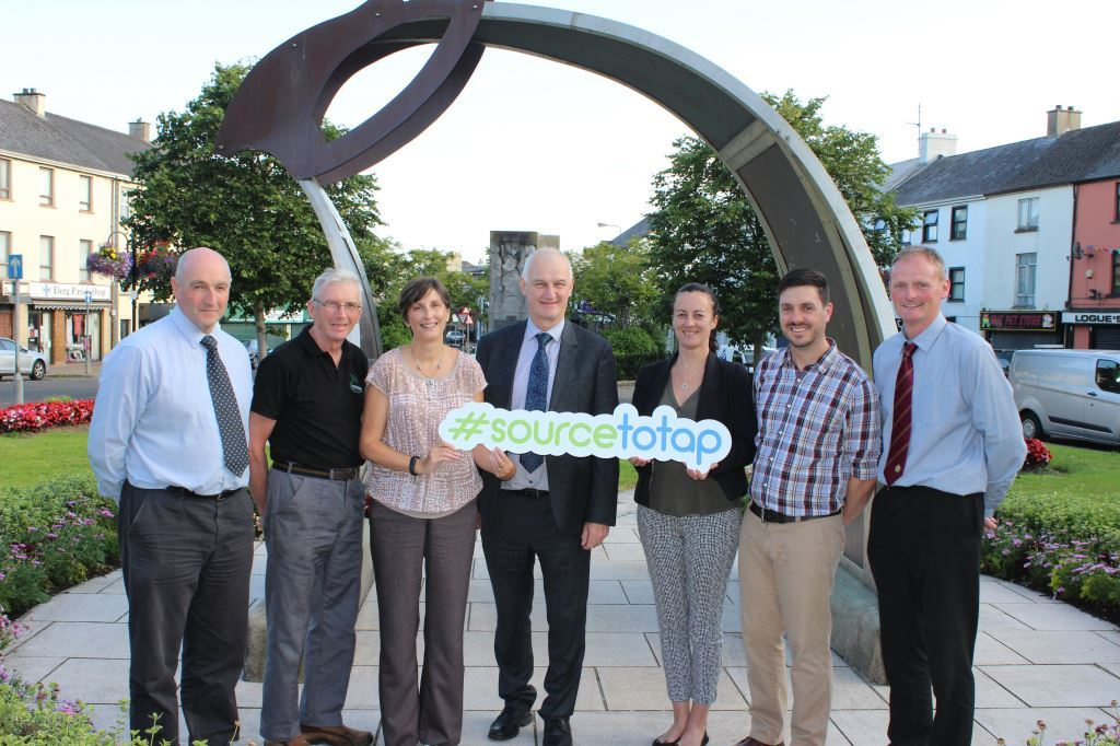 Robin Bolton, CAFRE, Michael Chance, IFA (Irish Farmers' Association) Donegal County Chairman, Diane Foster, Source to Tap Project Manager, Paul Harper, NI Water Director of Asset Delivery, Trudy Higgins, Irish Water, Environmental Strategy Lead, Mark Hor
